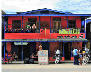 Hostel Heike on main street in Bocas del Toro, Panama